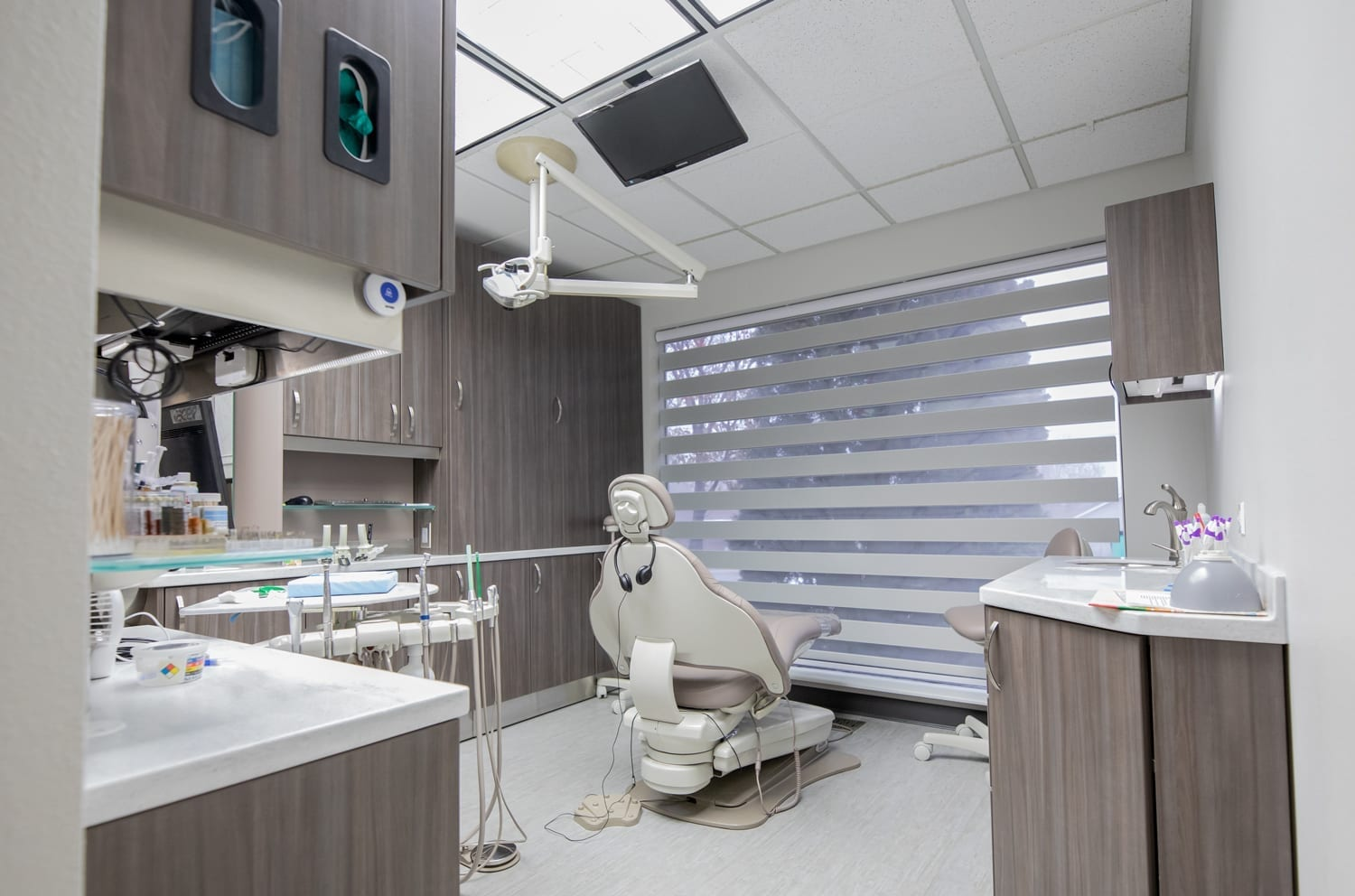 Patient exam room at West Richland Family Dental