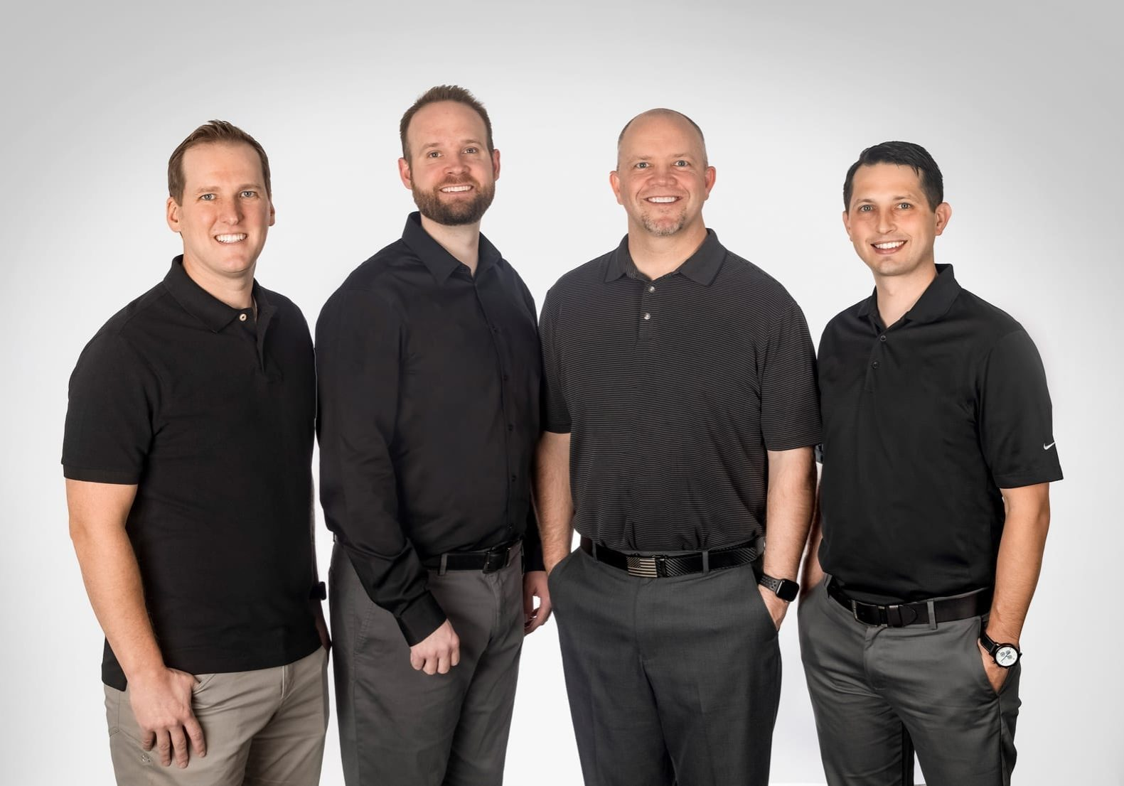 The dentists at West Richland Family Dental. From left to right, Michael Maxfield, Jarom Smith, Jason Madsen, and Wes Karlson